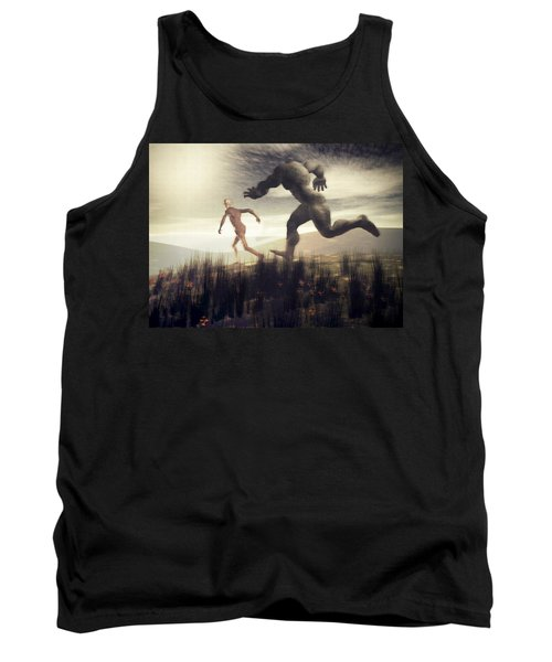 Tank Top featuring the digital art Dreaming Of A Nameless Fear by John Alexander