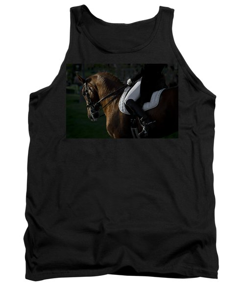 Tank Top featuring the photograph Dressage D5284 by Wes and Dotty Weber