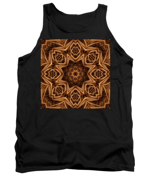 Dried Grass Mandala Tank Top