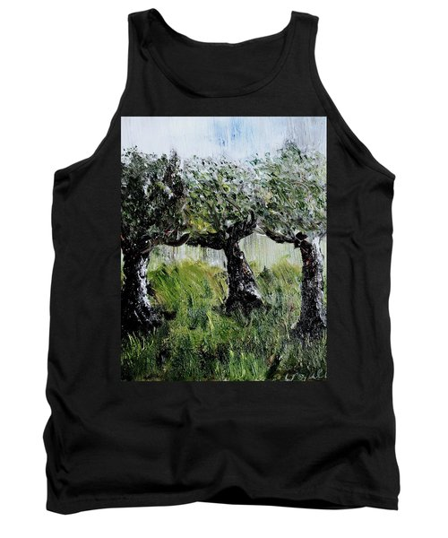 Tank Top featuring the painting Drizzle by Evelina Popilian