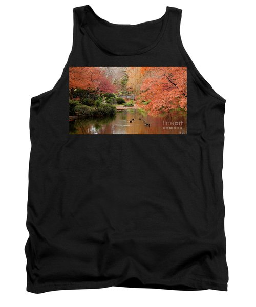 Ducks In The Pond Tank Top by Iris Greenwell