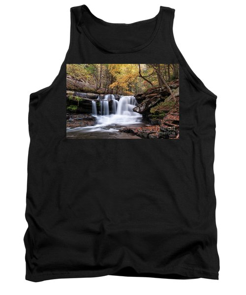 Tank Top featuring the photograph Dunloup Falls - D009961 by Daniel Dempster