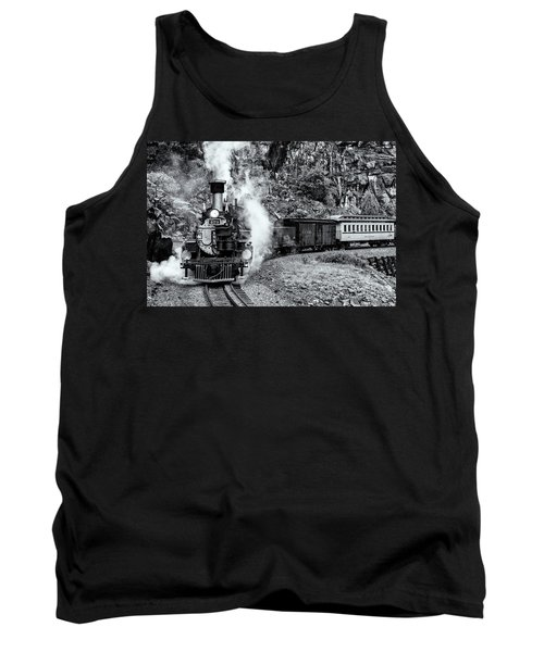Durango Silverton Train Bandw Tank Top