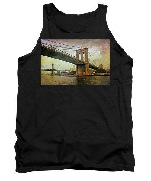 Dusk At The Bridge Tank Top by Diana Angstadt