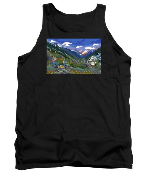 Tank Top featuring the painting Eagle Boys Learn To Sing by Chholing Taha