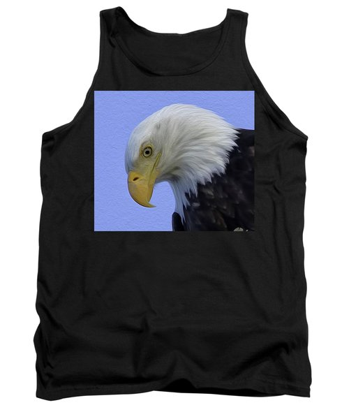 Eagle Head Paint Tank Top by Sheldon Bilsker