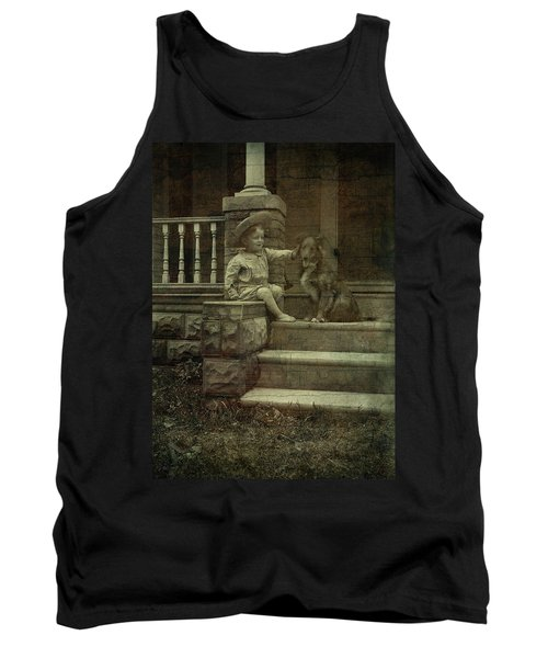 Ear Scratch And Straw Hat Tank Top