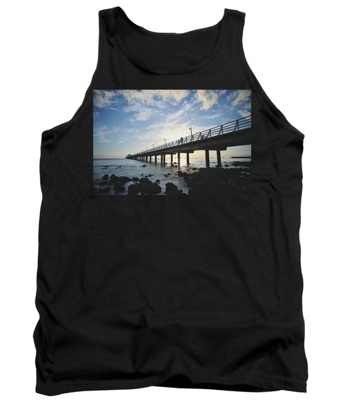 Early Morning At The Pier Tank Top