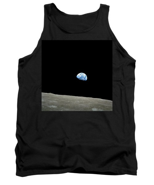 Earthrise - The Original Apollo 8 Color Photograph Tank Top