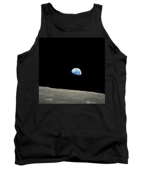 Earthrise - The Original Apollo 8 Color Photograph Tank Top