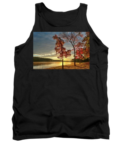 East Texas Autumn Sunrise At The Lake Tank Top