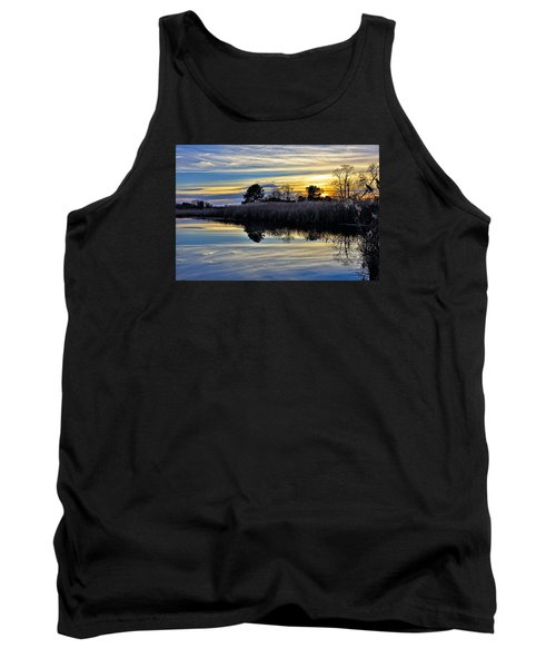 Eastern Shore Sunset - Blackwater National Wildlife Refuge - Maryland Tank Top by Brendan Reals