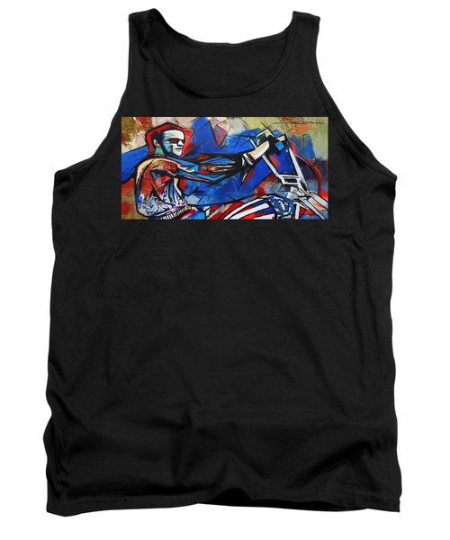 Easy Rider Captain America Tank Top by Eric Dee