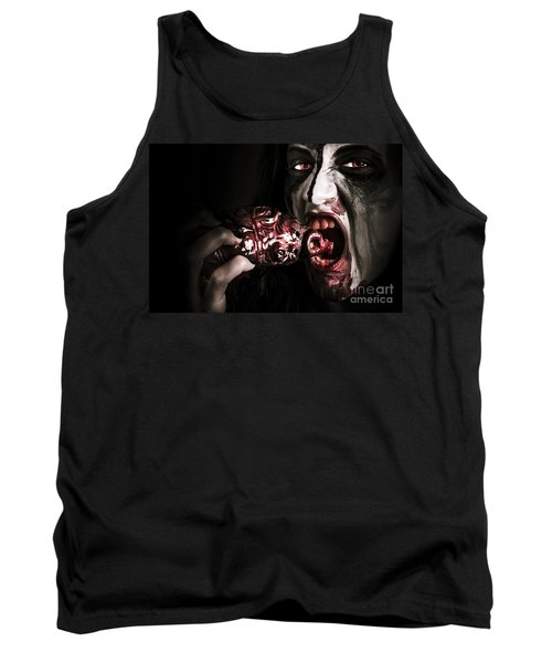 Eat Your Heart Out. Zombie Eating Bloody Heart Tank Top