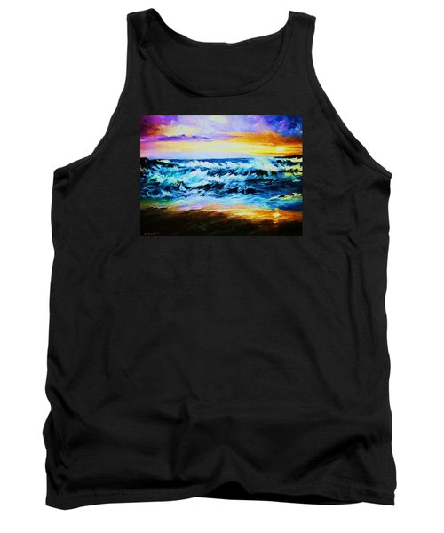 Tank Top featuring the painting Ebb Tide At Sunset by Al Brown