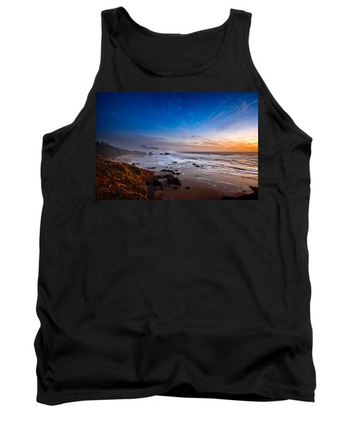Ecola State Park At Sunset Tank Top by Ian Good