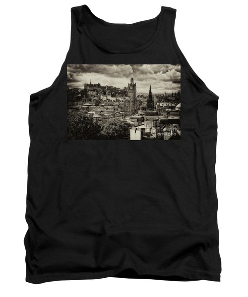 Tank Top featuring the photograph Edinburgh In Scotland by Jeremy Lavender Photography