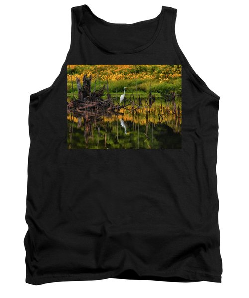 Egret Art  Tank Top