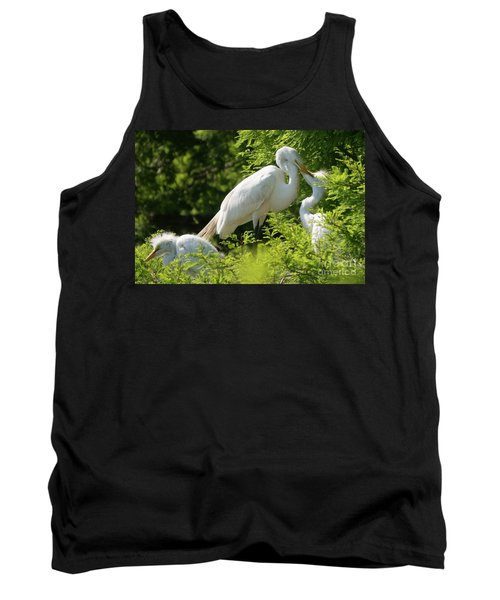 Egrets With Their Young Tank Top