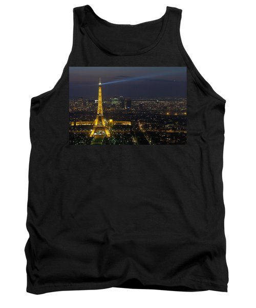 Eiffel Tower At Night Tank Top by Sebastian Musial