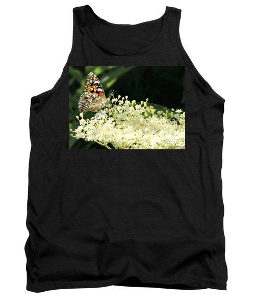 Elderflower And Butterfly Tank Top