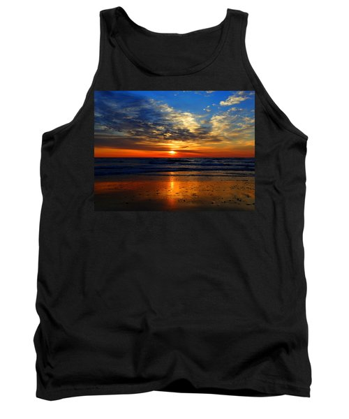 Electric Golden Ocean Sunrise Tank Top