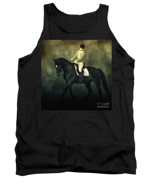 Elegant Horse Rider Tank Top