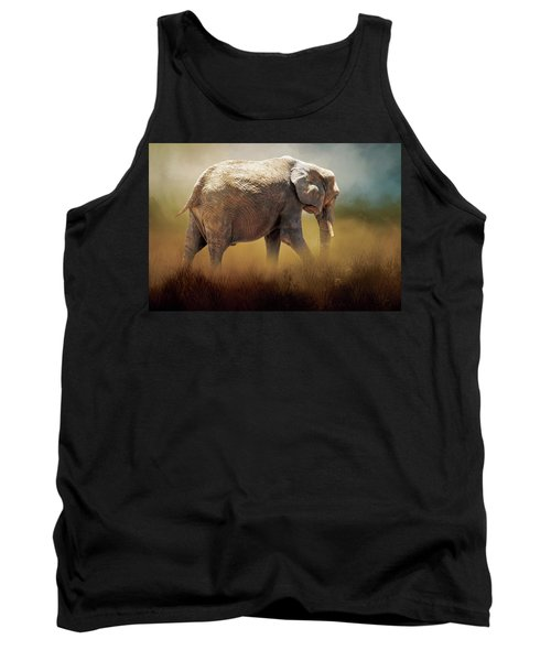 Tank Top featuring the photograph Elephant In The Mist by David and Carol Kelly