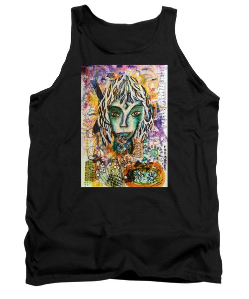 Tank Top featuring the mixed media Elf by Mimulux patricia no No