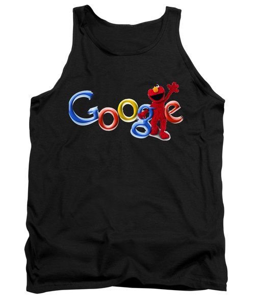 Elmo Google T-shirt Tank Top by Herb Strobino