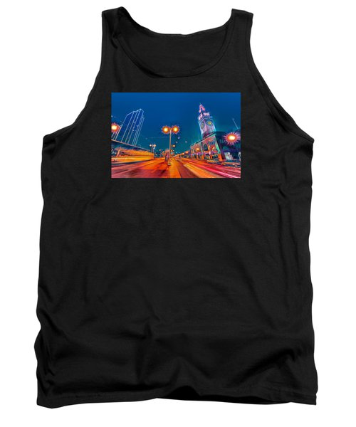 Tank Top featuring the photograph Embarcadero Lights by Steve Siri