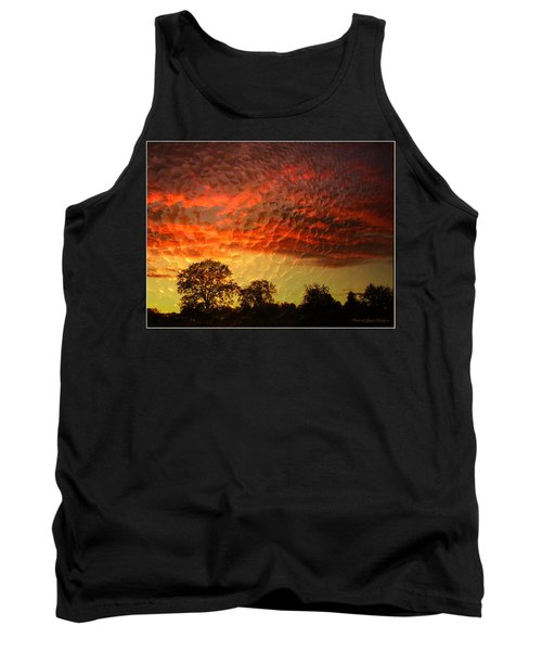 Tank Top featuring the photograph Embossed Sunrise by Joyce Dickens