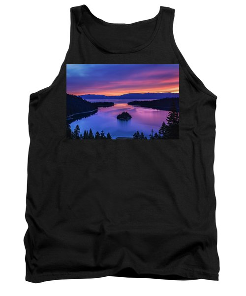 Emerald Bay Clouds At Sunrise Tank Top by Marc Crumpler