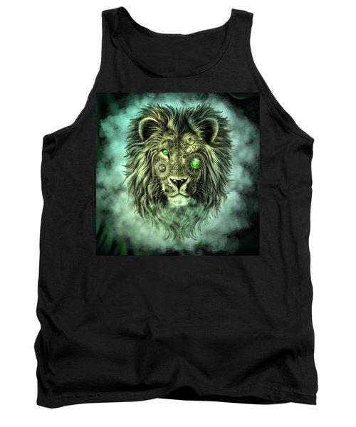 Emerald Steampunk Lion King Tank Top