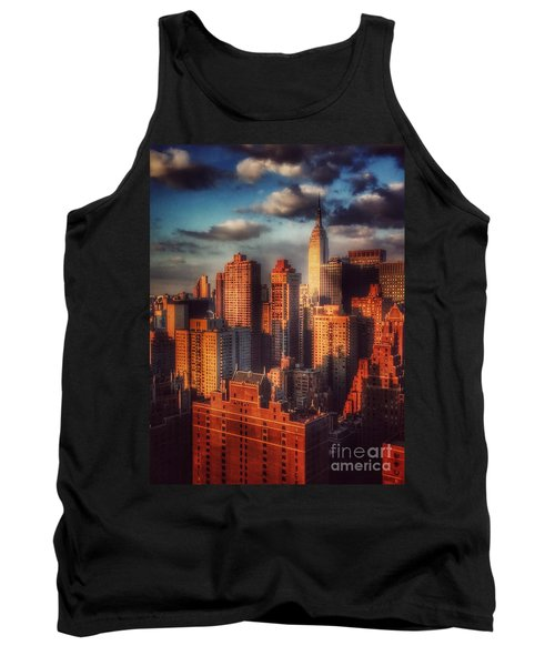 Empire State In Gold Tank Top by Miriam Danar