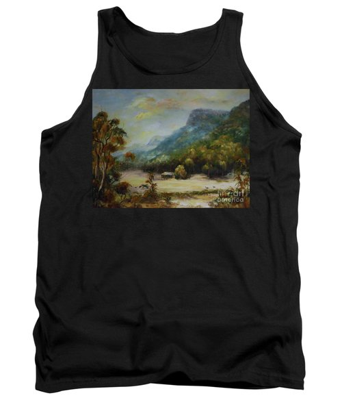 Tank Top featuring the painting Emu Plains, Grampians by Ryn Shell