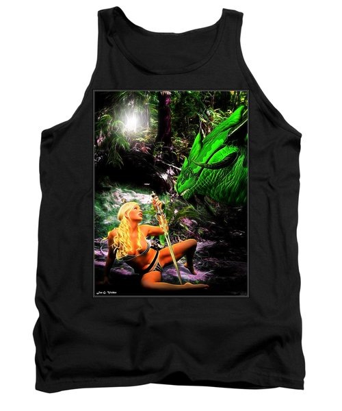 Encounter With A Dragon Tank Top