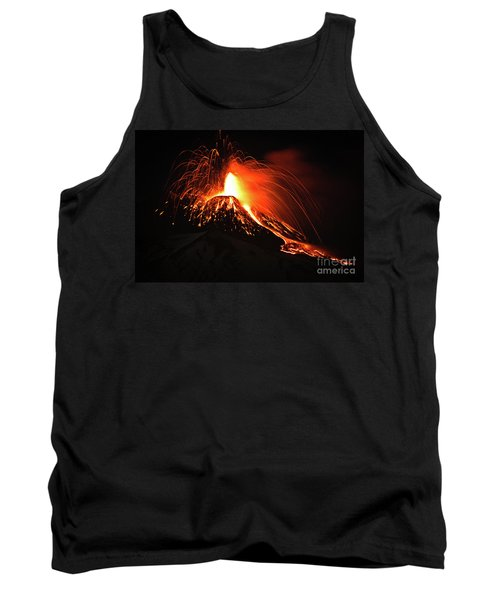 Tank Top featuring the pyrography Etna by Bruno Spagnolo