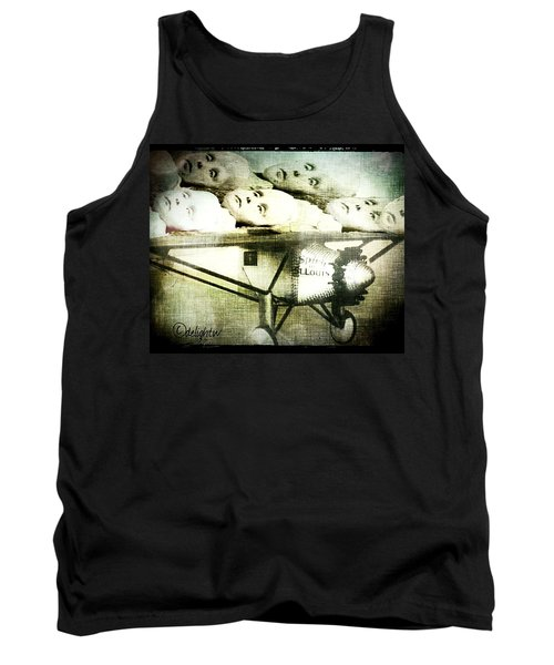 Tank Top featuring the digital art Eugenics 101 by Delight Worthyn