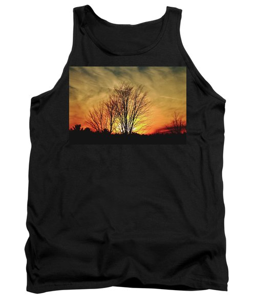 Evening Fire Tank Top by Bruce Patrick Smith