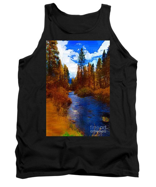 Evening Hatch On The Metolius Painting Tank Top by Diane E Berry