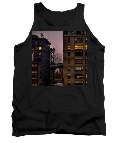 Tank Top featuring the photograph Evening In Dumbo by Chris Lord