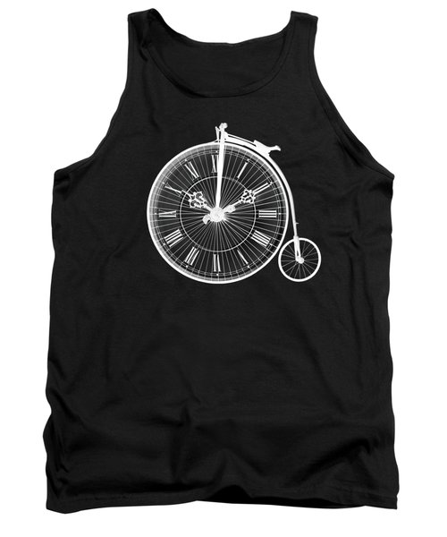 Evening Ride Penny Farthing On Black Tank Top