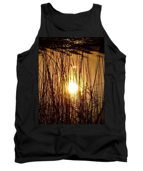 Evening Sunset Over Water Tank Top