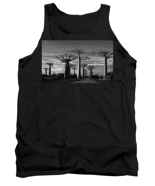 evening under the baobabs of Madagascar bw Tank Top