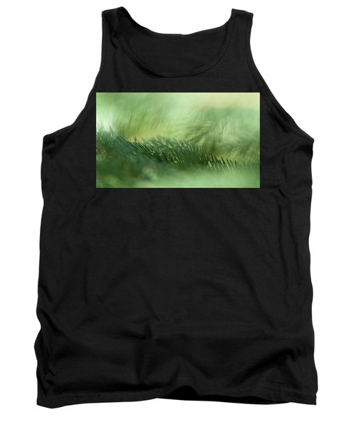 Tank Top featuring the photograph Evergreen Mist by Ann Lauwers