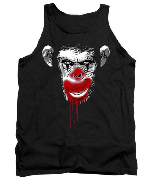 Evil Monkey Clown Tank Top
