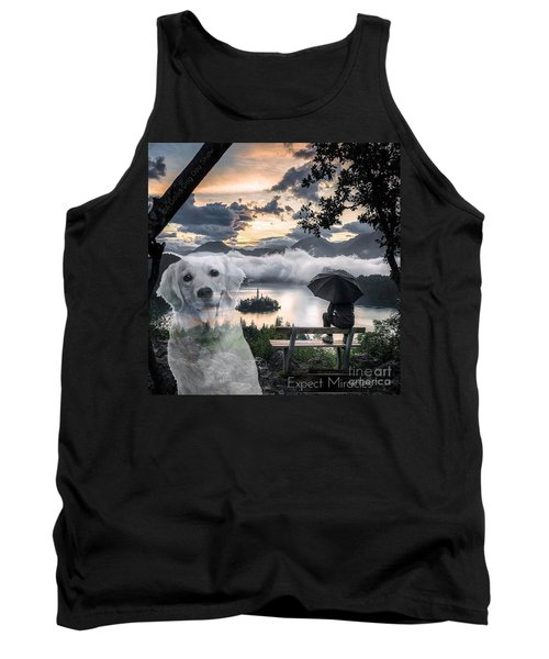 Tank Top featuring the digital art Expect Miracles by Kathy Tarochione