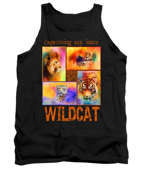 Expressing My Inner Wildcat Tank Top by Jai Johnson