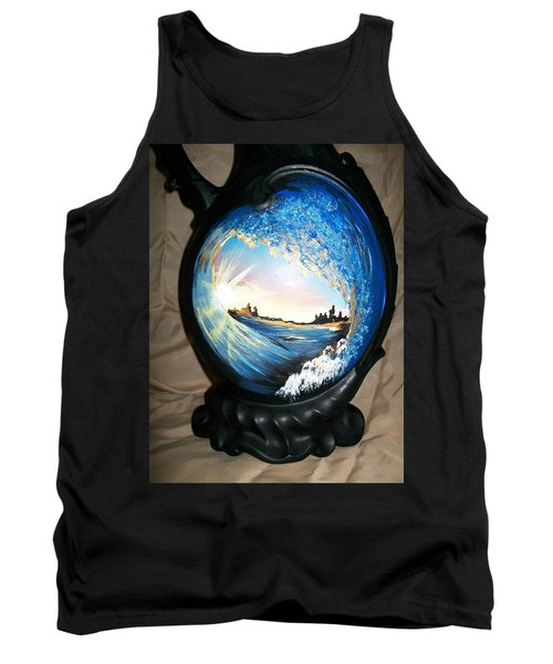 Tank Top featuring the painting Eye Of The Wave 1 by Sharon Duguay